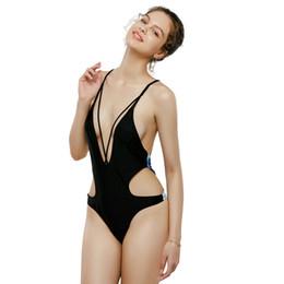 femminile siamese costume da bagno 2020 Strap triangolo Stampa Bikini Summer Beach per le vacanze Halter nero europei e americani Costumi da bagno da