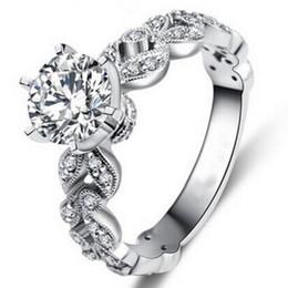 S925 Sterling Silber Ringe Hochzeit Verlobungsringe Für Frauen Weißes Gold Überzogen Zirkon Diamant Schmuck Luxus Bague Ringe von Fabrikanten