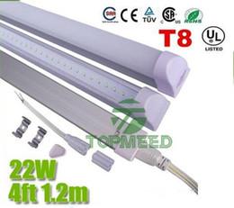 Remplacement des ampoules fluorescentes en Ligne-UL UL CE intégré 1.2m 4ft T8 22W Led Tube Lumière 96Leds 2400lm Eclairage Led Remplacer Tubes Fluorescents Lampe Ampoule + Garantie 3ans X25