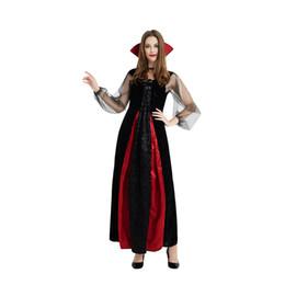 traje de mulheres demônio Desconto Adultos Mulheres Vampire Costume Trajes Cosplay 642 Demônio Vestido para o Natal Feminino Halloween Masquerade Party Dress Decoração