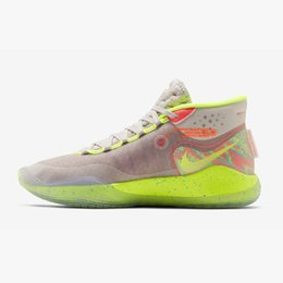 newest 0fc6c ad39f 2019 pas cher mens kd 12 chaussures de basket-ball mvp noir blanc argent or  équipe rouge rose Easters kd12 kevin durant xii baskets