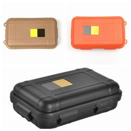 Caja de cambios edc online-Caja impermeable EDC al aire libre Equipo deportivo Caja de sellado impermeable a prueba de golpes Caja de almacenamiento de supervivencia salvaje 3 colores LJJZ423