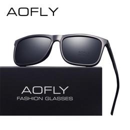 00cbc8ff6 AOFLY MARCA DESIGN clássico Polarizada Óculos De Sol Dos Homens de Condução  Quadrado Preto Quadro Óculos de Sol para Homens Óculos Masculino Oculos  UV400 ...