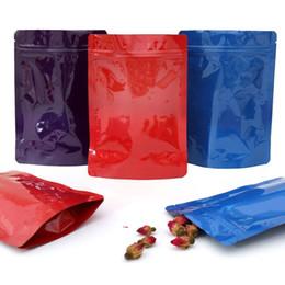 2020 sacos ziplock vermelhos Lustroso azul / vermelho / 100pcs calor selável Zip fechamento do pacote Bolsas Folha de alumínio Mylar Stand Up Bag poli ziplock bolsa sacos ziplock vermelhos barato