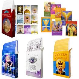научный пакет Скидка 5 стилей английский мудрости Oracle карты колода вселенской энергии Таро Карты goddness руководство гадание судьба настольной игры карточная игра wholsales