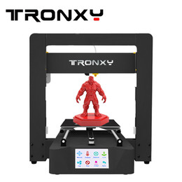 Serigrafia metallo online-Tronxy X6A stampante 3D Printing di 220 * 220 * 220 millimetri Touch Screen Bowden estrusore Sheet Metal frame kit di stampante 3D riscaldata Bed Auto Level