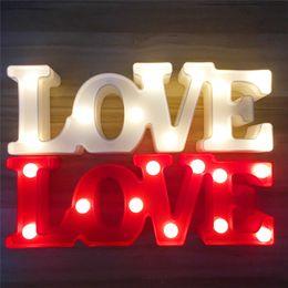 Letreiro com letra 3d on-line-Entrar LED Night 3D Luz carta de amor Plástico Lâmpada Luz Crown LED para presente do dia dos namorados Decor Wedding Party