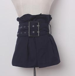 2019 cintos de corset de moda larga Cummerbunds tecido pista de moda feminina do sexo feminino vestido Espartilhos Cós Cintos decoração cinto largo R1373 cintos de corset de moda larga barato