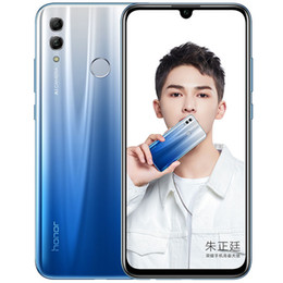 "2021 telefone inteligente 4gb ram Original Huawei Honor 10 Lite 4G LTE telefone celular 4GB RAM 64GB ROM Kirin 710 Octa Núcleo 6,21"" Full Screen 24MP Fingerprint Smart Mobile Telefone"
