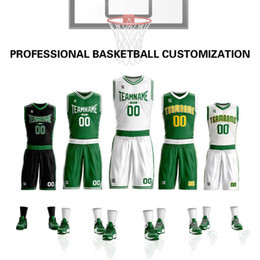 waterproof dry suit Promo Codes - Custom Top Quality Men Kids Basketball Jerseys Sets Uniforms Jabari Bird Jaylen Boys Sport Kit Clothing Shirts Shorts Suits Side Pockets Cus