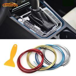 Innenverchromung online-Carcardo 5M Auto-Styling-Innendekoration-Streifenleiter Moulding Trim Tür Armaturenbrett Edge-Universal-Auto-Chrom-Streifen