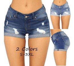 2020 calção jeans estreita denim hot pants 2018 das mulheres rápido-vendendo buracos apertados esticar shorts jeans hot pants calção jeans estreita barato