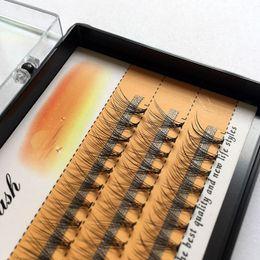 2019 caixa de cílios individuais Natural Longo Individual Flare Cílios Cluster Cílios Postiços 60 Bundles / Boxes Falso Eye Lashes Extensão Beleza Ferramentas caixa de cílios individuais barato