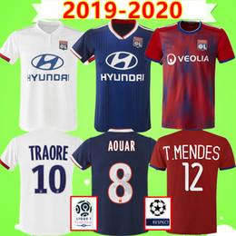 Futbol forması  NEW 2019 2020 DEMBELE MEMPHIS AOUAR FEKIR MENDY Maillot de foot Olympique Lyonnais lyon soccer jersey Lyon football shirt OL 19 20 TERRIER CORNET Camisa Camiseta nereden
