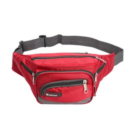 Модный ремень онлайн-Waterproof Men Waist Fanny Pack Adjustable Strap Money Belt Bag Oxford Cloth Phone Pouch Travel Hip Purse Male Waist Bag