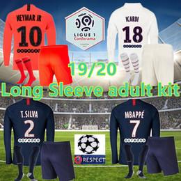 2019 ronaldo jersey giovani Manica lunga ICARDI 19 20 Jersey di calcio 2020 Parigi Mbappe HERRERA Maglia CAVANI calcio adulto kit camicia piena manica Maillots de foot