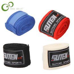 Abrigo de la mano del deporte online-1 Unids Guante de Boxeo Algodón Deportes Vendaje de boxeo Muay Thai Mma Taekwondo Guantes de mano Envolturas Protección Hombres