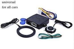 Rfid bloqueo de entrada online-Auto Alarma de Coche Motor de Coche Pulsar Botón de Inicio RFID Bloqueo de Encendido Arrancador Entrada Sin Llave Iniciar Parada Inmovilizador Sistema Antirrobo