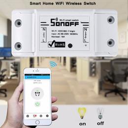 Interruttore remoto senza fili online-Sonoff Basic Wifi Switch Domotica senza fili Domotica Light Smart Home Automation Relay Module Controller Lavora con Alexa