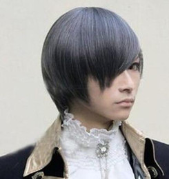 ciel phantomhive cosplay pieno Sconti Parrucca Wig Black Butler Ciel Phantomhive Short Full Party Customs Cosplay G17