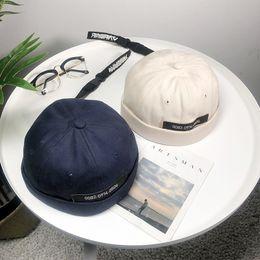 Мужчины случайные шапочки настроить Докер шляпа матрос крышка механик байкер шляпа Тюбетейка Шапочка черный темно-синий старинные шляпы для дам от