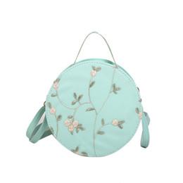 Fashion-Pu Sac à main rond à la mode Petit sac à bandoulière Sac à bandoulière à fleurs pour femme ? partir de fabricateur
