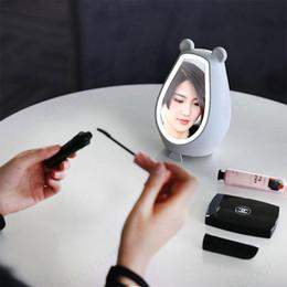 Gestes haut-parleurs bluetooth en Ligne-Lampe miroir de maquillage avec mode créatif réveil Bluetooth haut-parleur lumière geste gestation horloge 19 x 10 x 10 cm