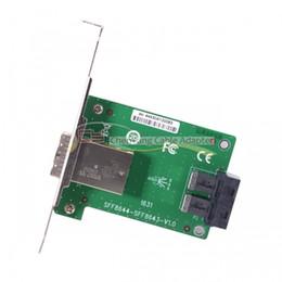 Argentina 100 PCS / CY Puertos duales Mini SAS HD SFF-8644 A Adaptador hembra PCBA SAS HD SFF-8643 interno con soporte de perfil bajo Suministro