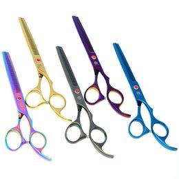 Tesoura de 6,5 polegadas on-line-6.5 polegadas roxas Dragão Pet Grooming Scissors tesouras cão cabelo tesoura diluindo cão Professional JP440C