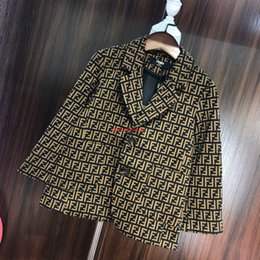boys preppy suits Promo Codes - Boy jacket kids designer clothes autumn suit jacket letter-dyed jacquard fabric fashion temperament coat new