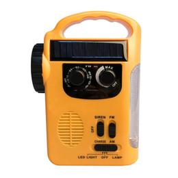 Banque solaire de puissance de radios AM / FM de dynamo à manivelle extérieure extérieure avec la lampe de LED ? partir de fabricateur