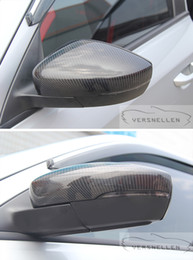 подходящее освещенное зеркало Скидка Крышки из углеродного зеркала для Volkswagen POLO 2014 2015 2016 2017 года со вспомогательной подсветкой OEM Fit Боковая крышка зеркала 1: 1 Замена