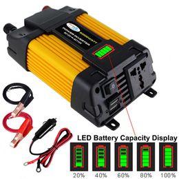 Autoaufladeeinheit dvd online-6000W DC 12V bis 110 / 220V AC Solar-Auto-Energien-Inverter Ladegerät-Konverter-Adapter Sine Wave Converter 2USB für DVD-Player Auto