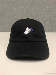 a9bb27c7529 drake god black hat Canada - PURPLE DRANK Hat (slide buckle) fashion style  vintage