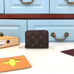 2019 bolsa de homem pequeno Qualidade superior homem mulher cartão pacote pequeno e leve designer de moedas bolsa de luxo clássico titular do cartão bolsa transporte da gota bolsa de homem pequeno barato