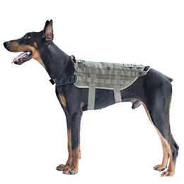Taktik Hizmet Köpek Yelek Eğitim Avcılık Molle Naylon Suya Dayanıklı Ayarlanabilir Köpek Koşum Kolu Ile Avcılık cheap hunting vest xl nereden avcılık yelek xl tedarikçiler