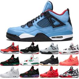 2019 luces de aire baratas Nike Jordan Air Retro 2019 Bred 4s Men Basketball Shoes 4 NRG Black White Laser Gum Pale Citron Pure Money Realeza Iluminación Nuevo Entrenador barato Zapatillas deportivas luces de aire baratas baratos