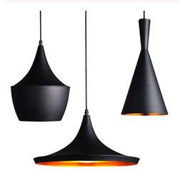 lampada nera diy Sconti 85-265v Lampada a sospensione Lampade a sospensione creative in alluminio fai-da-te Lampade a sospensione per lampadari a sospensione per ristoranti / bar neri (alti, grassi)
