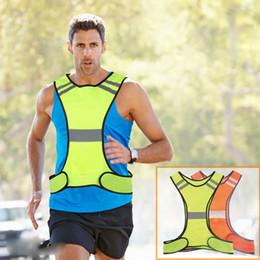 uniformes de segurança Desconto 1 pcs Segurança Colete Pequeno Bolsa de Segurança Jaqueta 200 m / 656.17ft Reflexivo Alta Visibilidade Colete Uniformes Sportswear Ao Ar Livre