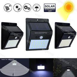panel solar led sensor Rebajas Iluminación solar led para exteriores 20 30 35LED Paneles solares Potencia PIR Sensor de movimiento LED impermeable Luz de pared de jardín Venta caliente EUB