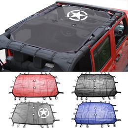 2/4 Puertas Tejido de Poliéster Bikini de Malla de Techo Cubierta UV UV Sombra de Malla Para Jeep Wrangler 2007-2017 Accesorios Car Styling desde fabricantes
