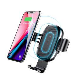 магнитная накладка iphone Скидка Baseus быстрое беспроводное автомобильное зарядное устройство Mount Baseus Air Vent Gravity Держатель телефона Зарядка для iPhone XS XR Max iPhone 8 плюс Samsung S9 Plus