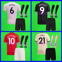 Squadra di calcio dei ragazzi online-S - 4XL manchester united 2019 2020 Manchester RASHFORD Man Lukaku LINGARD United POGBA UTD versione da giocatore maglie da calcio 19 20 bambini donne kit maglie da calcio