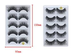 YAHLIGS heißer Verkauf 3d 3D Nerzpelz 5 Paare falsche Wimpern Natürliche lange falsche Wimpern handeln Massenwimpern von Fabrikanten