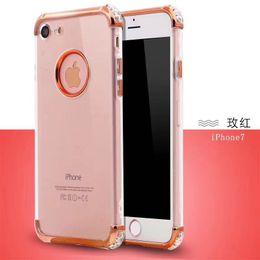 3 em 1 Ultra Slim Fina TPU Caso À Prova de Choque Anti-Rascunho Galvanoplastia Para iphone xs xs max xr 8g 7g 6g 5g além de de
