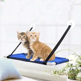 гамак дома Скидка Pet Гамак Кошка Греться Оконный Сиденье Дома Присоски Висячие Кровать Мат Lounge Кошки Котенок Поставки