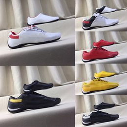 locomotive shoes Promo Codes - 2019M Fashion Brand Errari SF Locomotive Shoes High Quality Leather Shoes Comfortable Foot Feel Casual Shoes Size 37-45