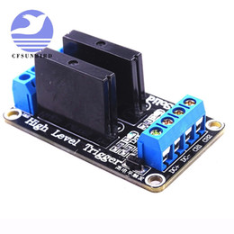 5V DC Plastic 4 Way High Level Solid State Relay Module Broad with Fuse