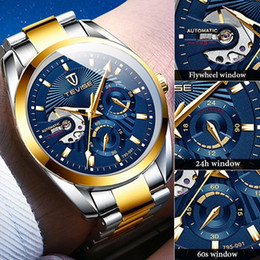 tevise brand watches Promo Codes - Fashion Brand TEVISE Men Automatic Watch Men Stainless steel Chronograph Mechanical Wristwatch Male Clock Relogio Masculino