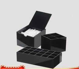 Sıcak! 2019 klasik marka CC siyah Akrilik kozmetik İşlevli saklama kutuları Makyaj fırça Makyaj pamuk saklama kutusu Düğün Hediyesi (Anita Liao) nereden
